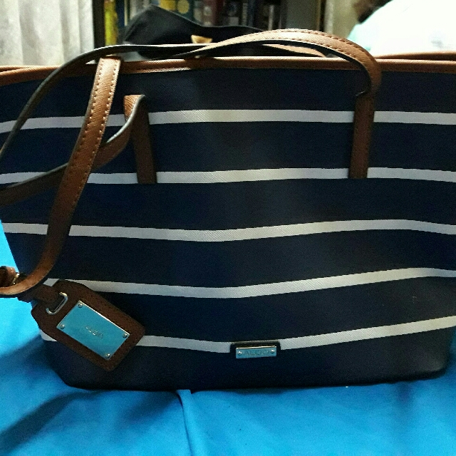 c7abbc9899 ALDO Bag Stripes Navy Blue