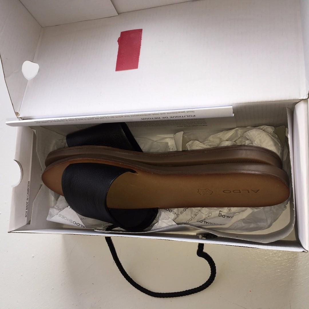 ALDO  Black & Tan Sandals (Never Worn, Brand New)