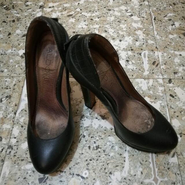 ALDO black high heeled pumps