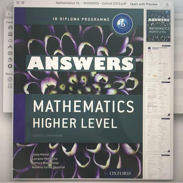 Answers ib mathematics hl oxford course companion textbooks on photo photo photo fandeluxe Gallery