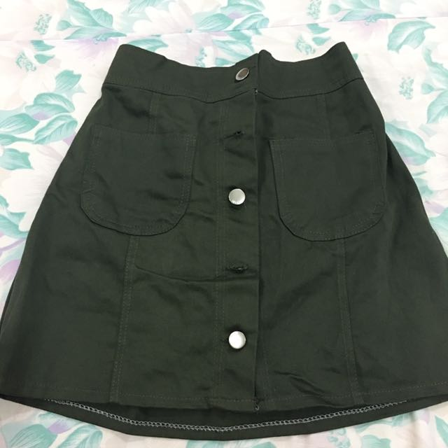 Army Green Skirt