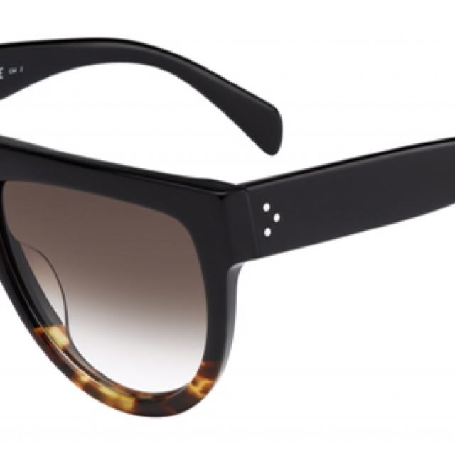 authentic Celine Shadow Sunglasses - Black And Tort