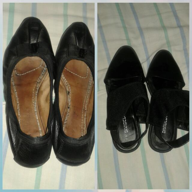 Authentic ferragamo,H and M shoes Both