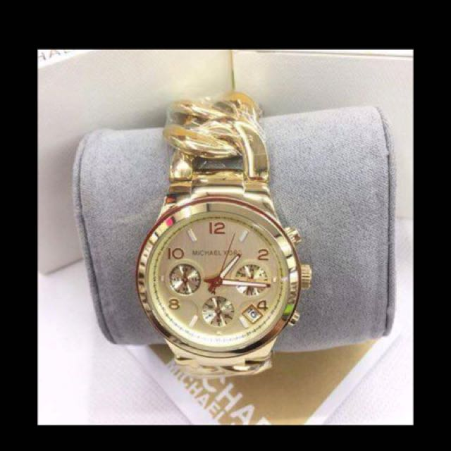 Authentic MK Runaway Chronograph Watches