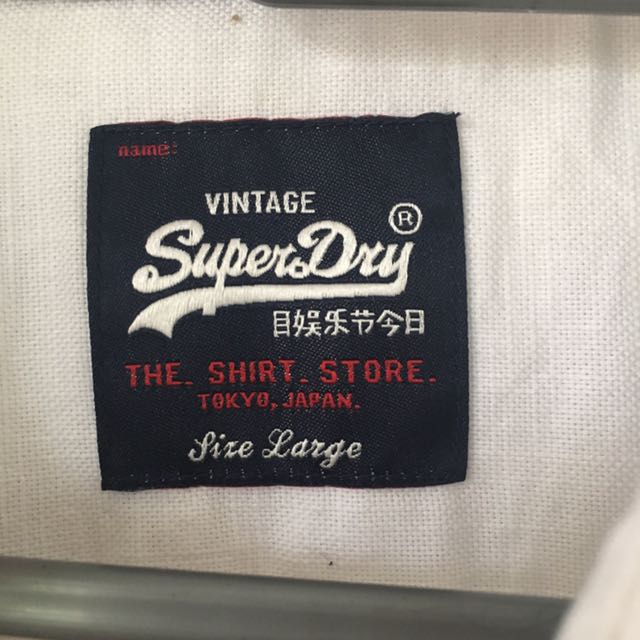 Authentic Superdry Boston Button Shirt