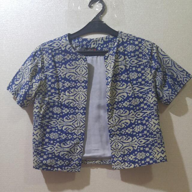 Batik Blue Blazer Outerwear