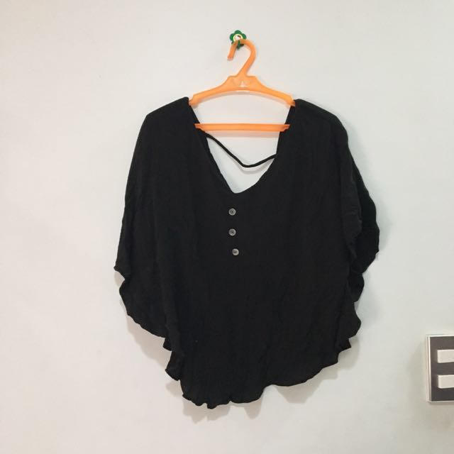 Black Summer Blouse