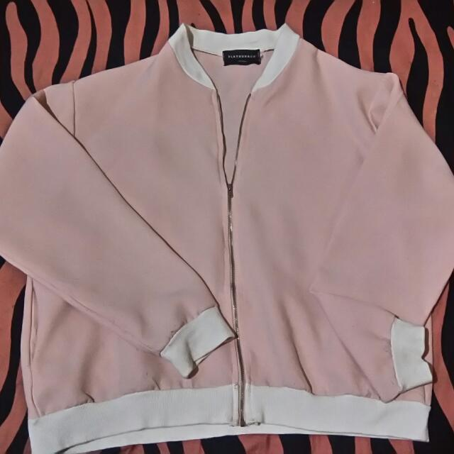 Bomber Jaket Baby Pink