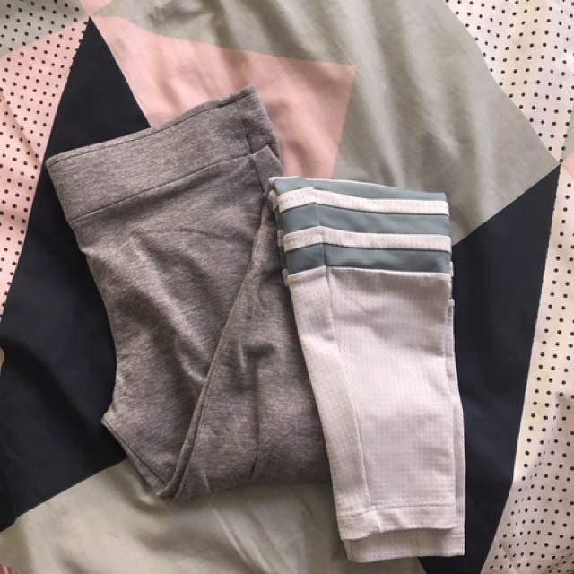 Bombshell Sportswear Grey Marle Sock Leggings M