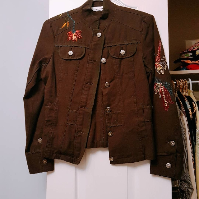 Brown Embroided Jacket (S)