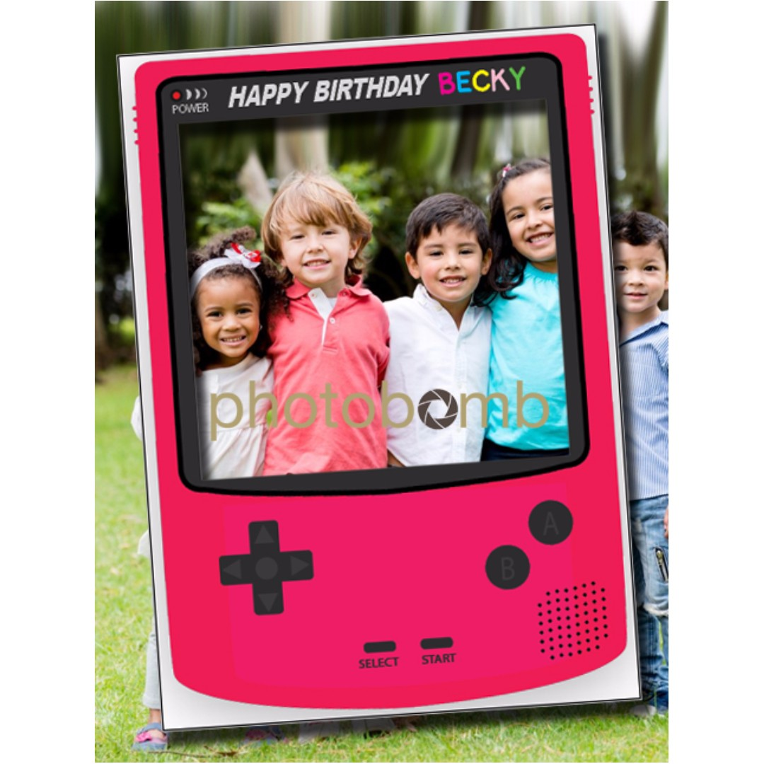 Custom LARGE Gameboy Photo Booth Frame Prop, Everything Else on ...