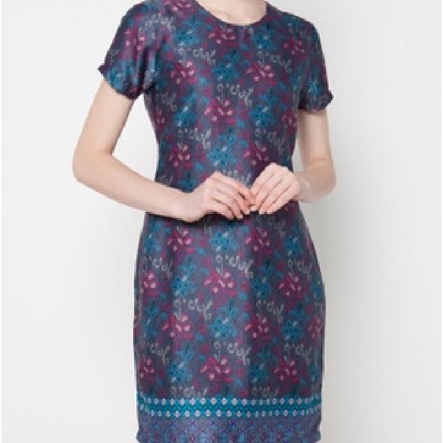 Dione Batik Silk Dress