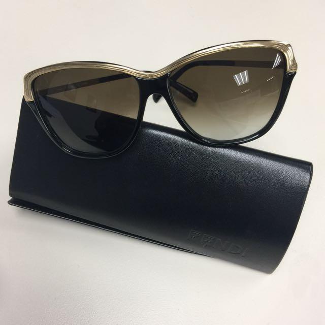 《全新》FENDI芬迪復古銅金色太陽眼鏡墨鏡 FS5300R