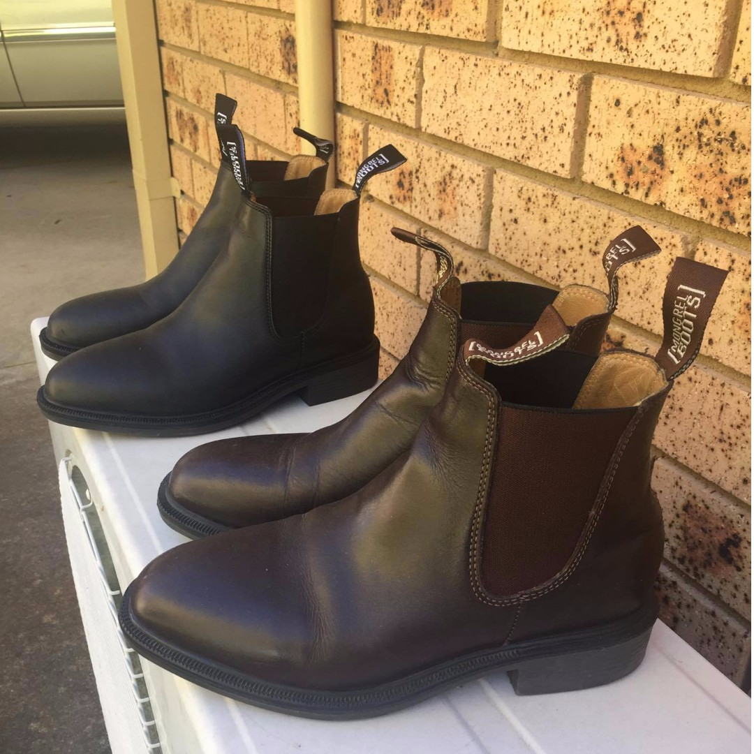 FOR SALE: Used Black and Brown Mongrel Boots Mens US6