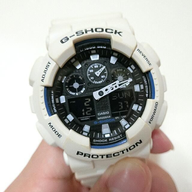 G Shock 白色 手錶