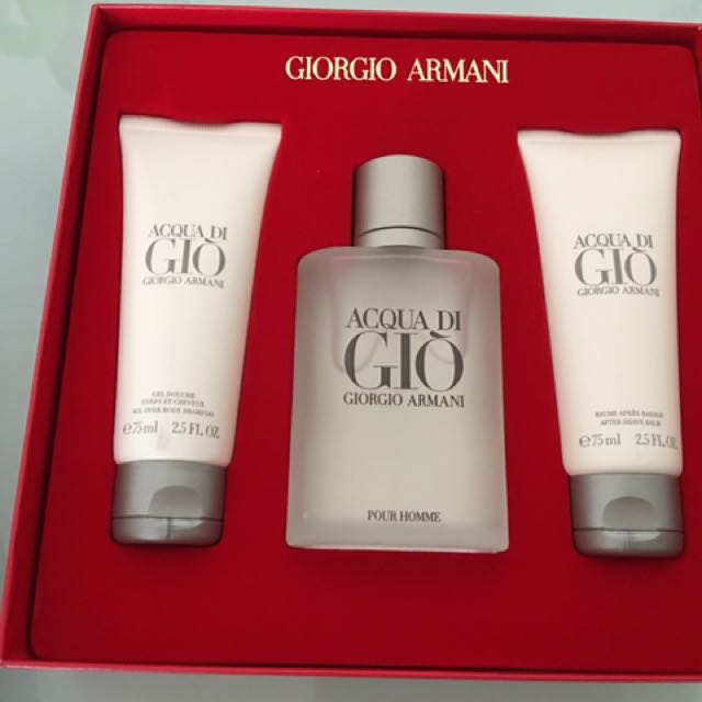 photo photo photo photo & Giorgio Armani Mens Perfume Gift Set Health u0026 Beauty Hand u0026 Foot ...