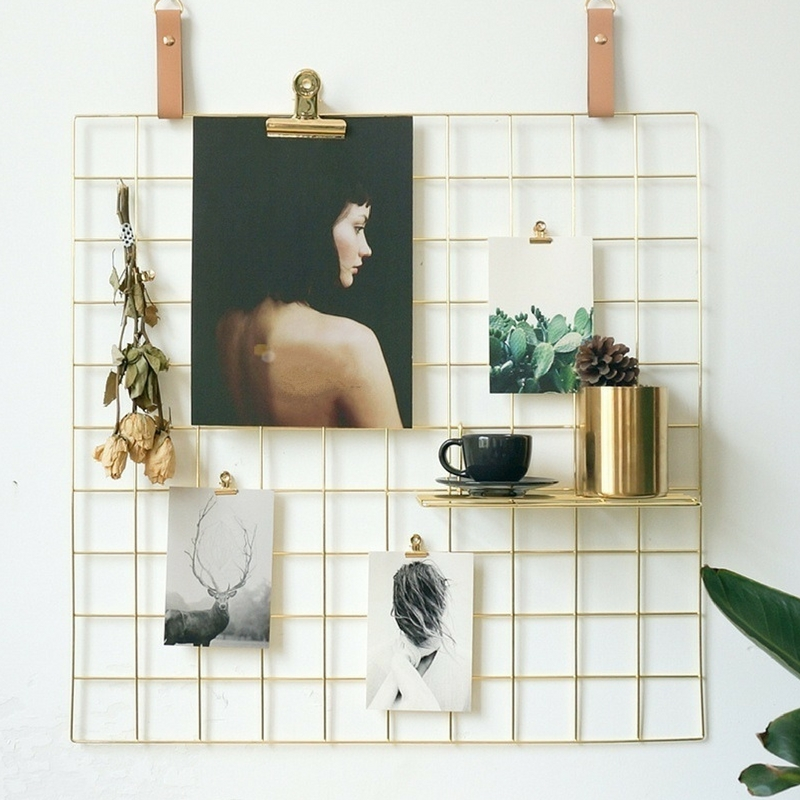 16 Rose Gold And Copper Details For Stylish Interior Decor: PROMO ONLY S$19.90 /GOLD/ ROSE GOLD Wire Wall Grid Mesh