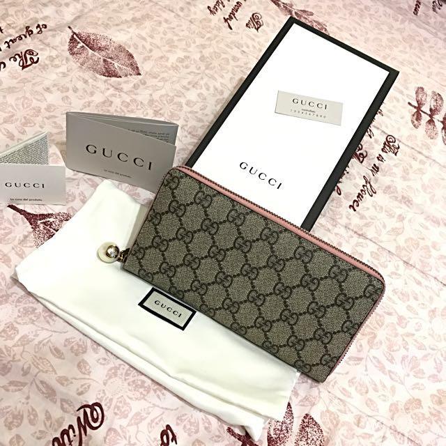 全新款正品Gucci Women's Smlg皮夾