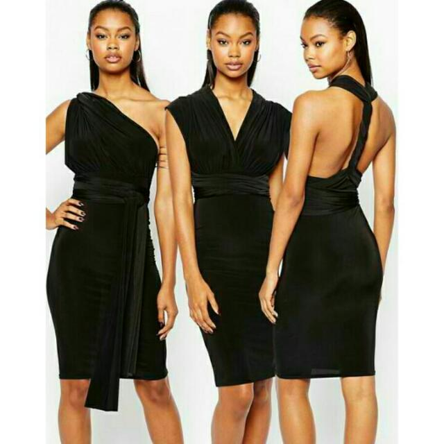 High Quality Multiway Bodycon Wrap Dress