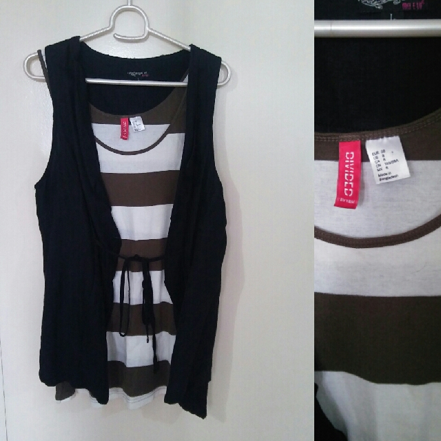 H&M Tank Top & Black Vest Bundle