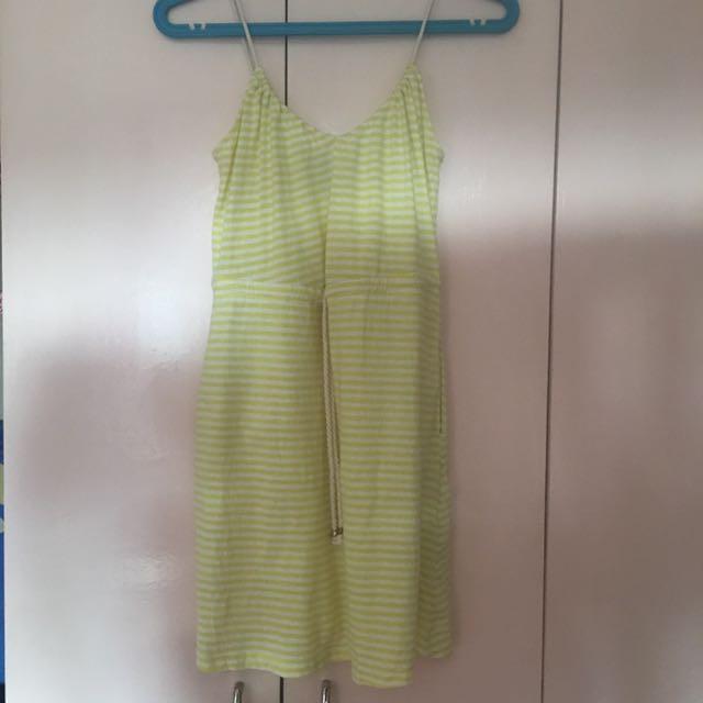 H&M YELLOW STRIPED DRESS