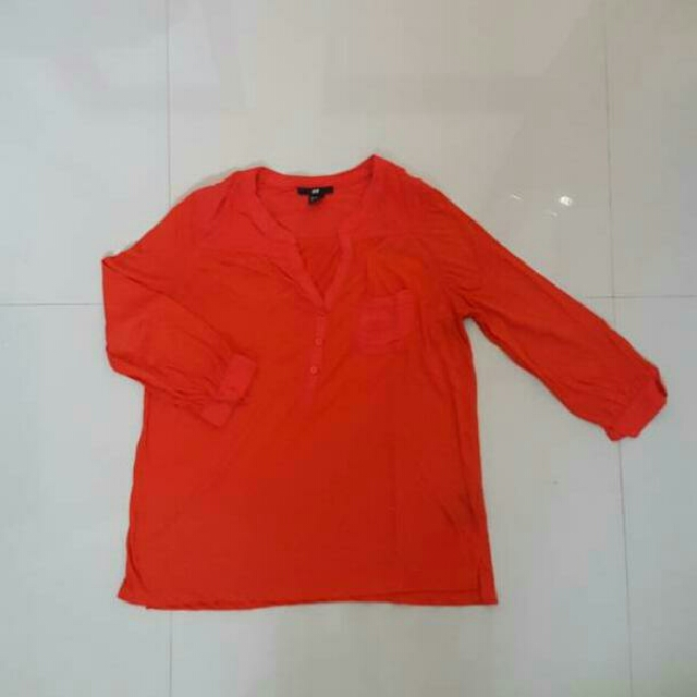 HnM Red Blouse