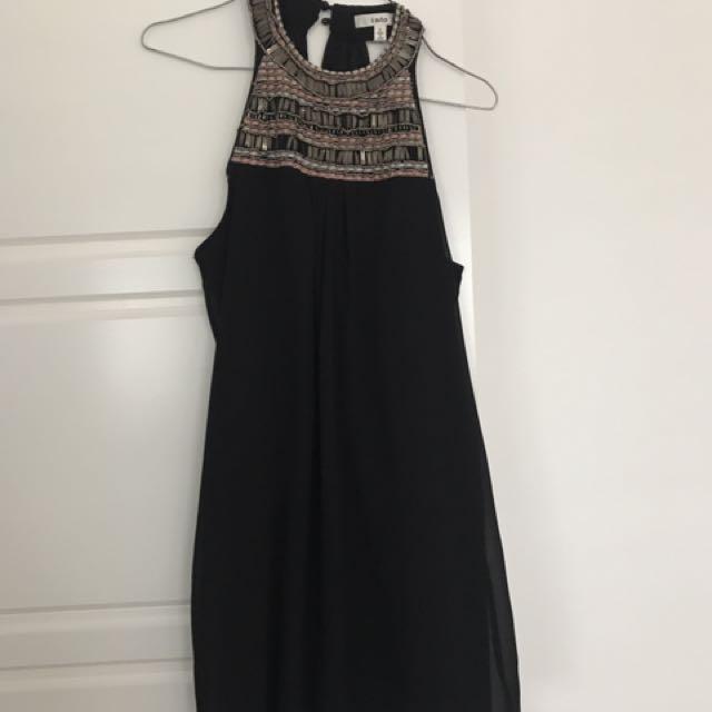 Into Black Embellished Sequin Dress Size 8