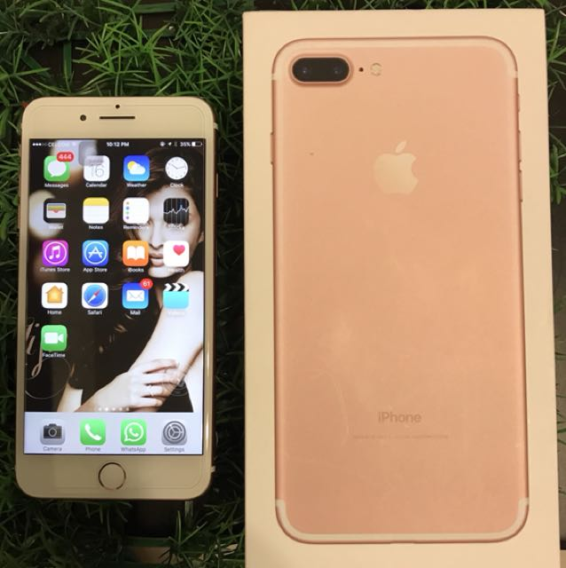 IPHONE 7+ 32 GB ROSE GOLD 20 DAYS USED WITH WARRANTY