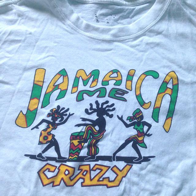 Jamaica Me Crazy White T-shirt