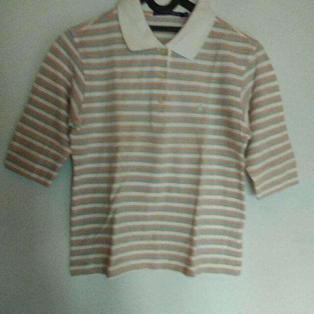 Kaos Polo Cewek Lengan 3/4 Fit to S