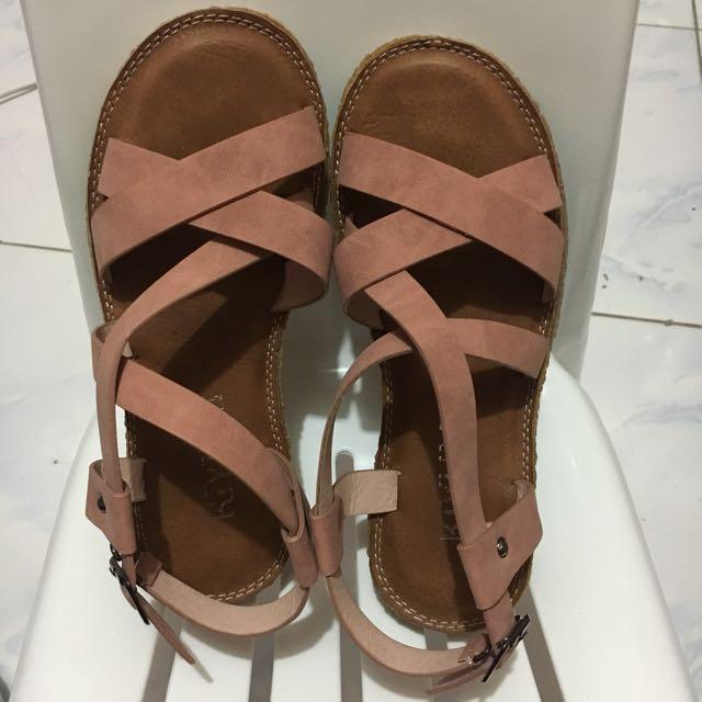 Korean nude sandals