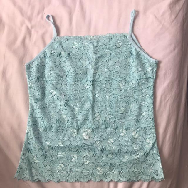 Lace Blue Singlet