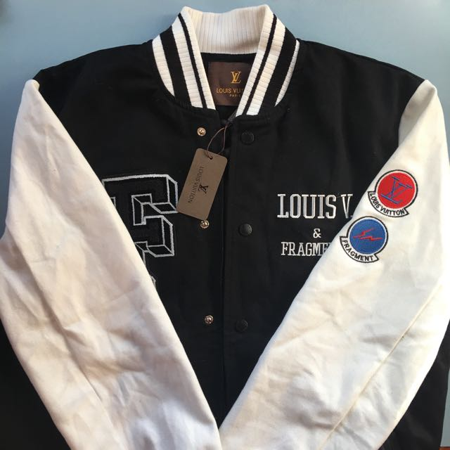 Louis Vuitton LV X Fragments EMBROIDERED VARSITY JACKET