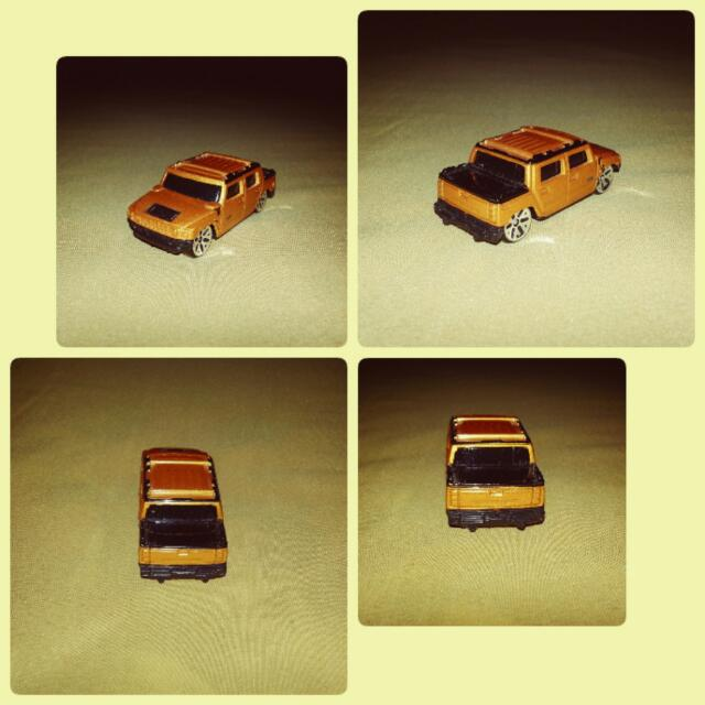 Maisto Hummer H2 Concept 2001 Bronze Orange Diecast Toy Model Cars