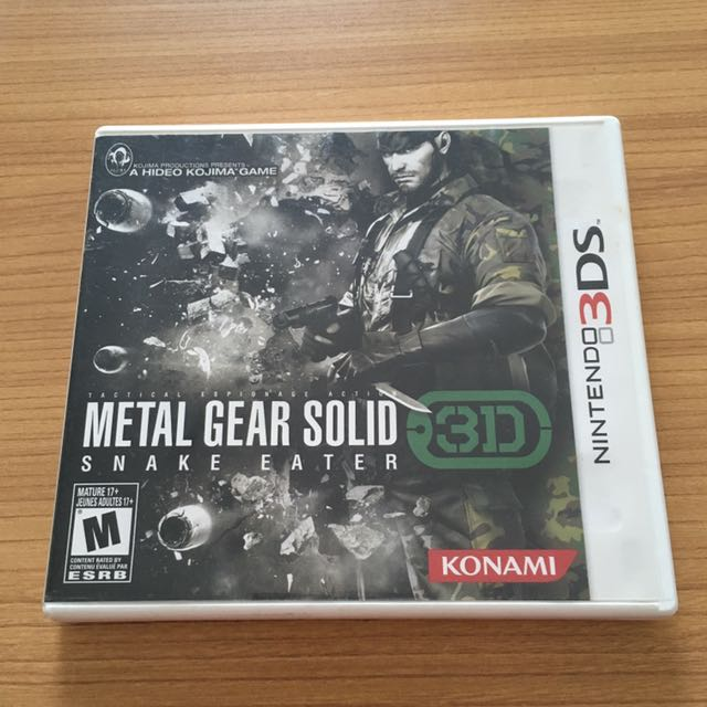 Metal Gear Solid Snake Eater 3D for Nintendo 3DS