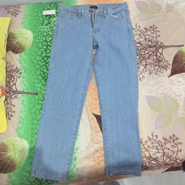[NEW!!!] Boyfriend jeans biru muda