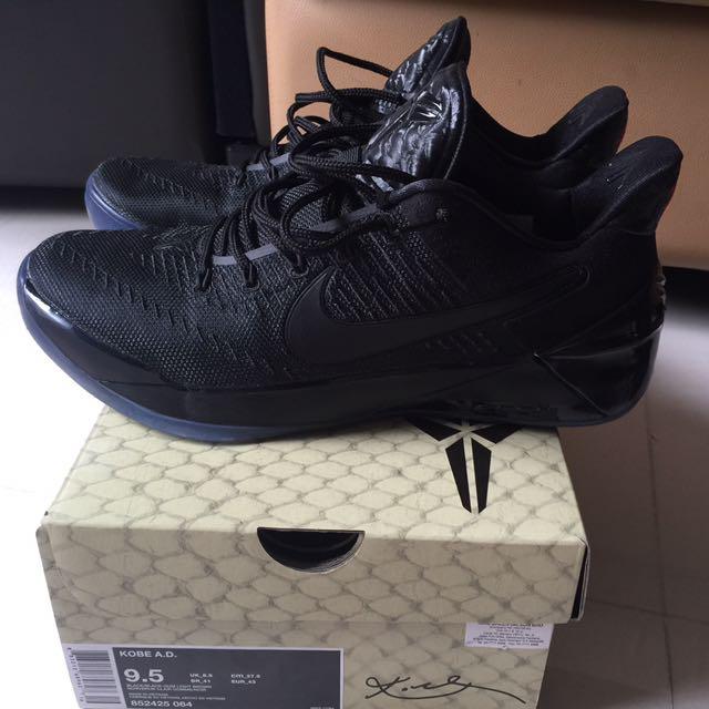 sale retailer c9f8b 65bc6 Nike Kobe A.D Triple Black, Men s Fashion, Footwear on Carousell