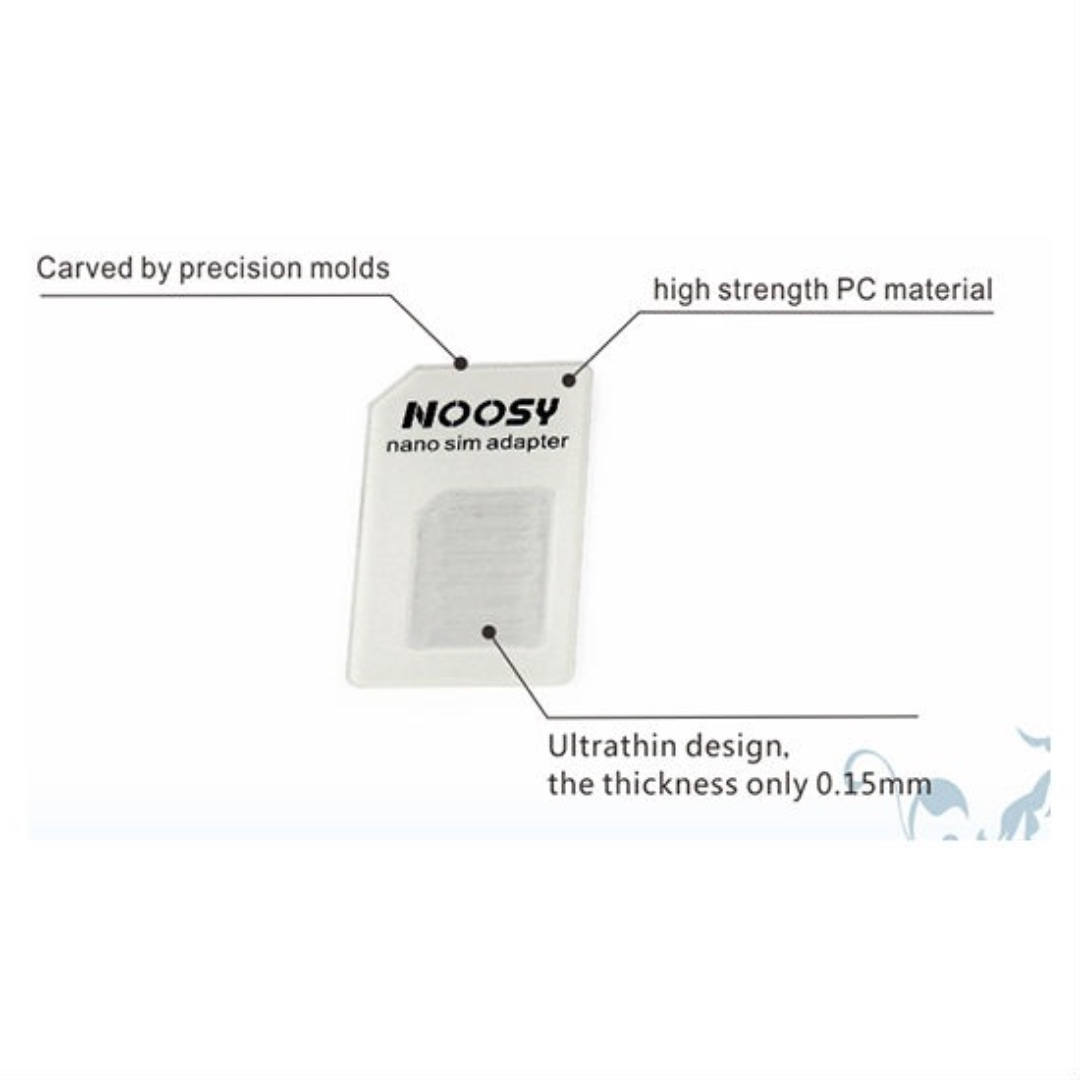 NOOSY SIM CARD Adaptor with iPhone Ejector Pin