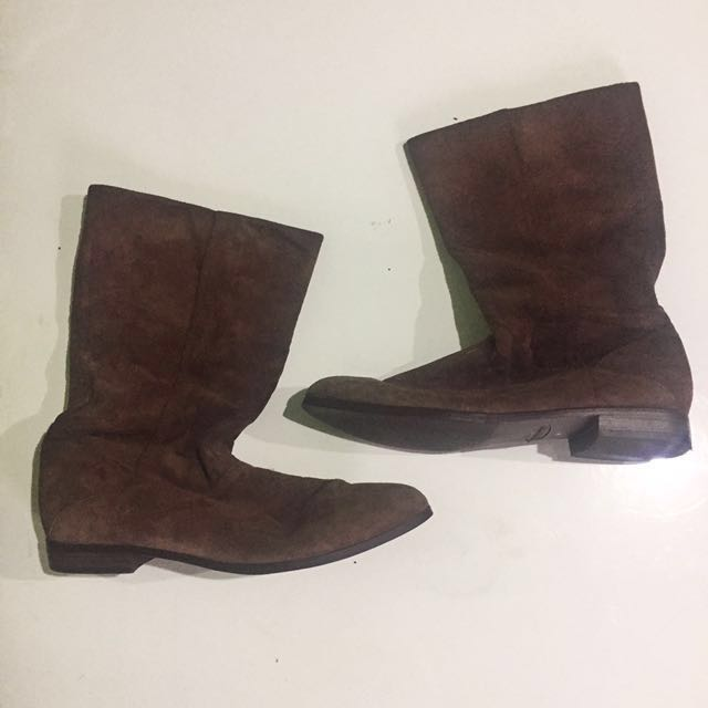Old Navy faux suede boots size 7 from Japan