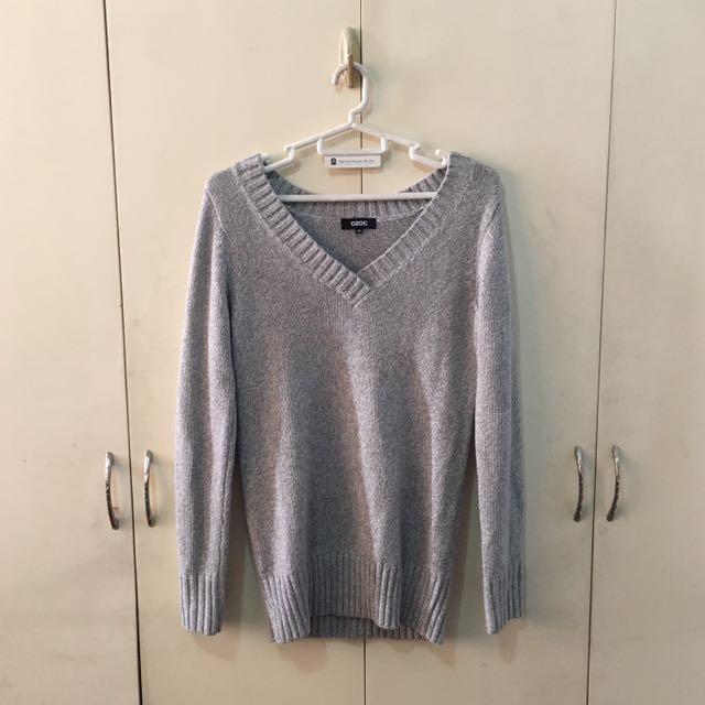 Ozoc Comfy Gray Sweatshirt
