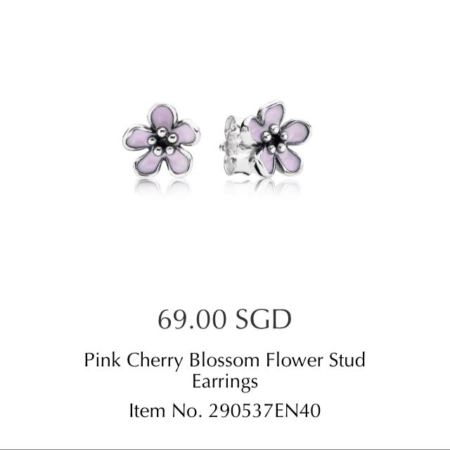 Pandora pink cherry blossom flower stud earrings flowers healthy pandora pink cherry blossom flower stud earring pandora pink cherry blossom flower stud earrings flowers healthy pandora pink cherry blossom flower stud mightylinksfo