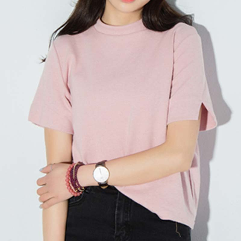 Pink turtleneck shirt