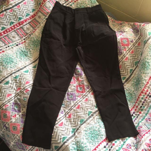 Plain Tapered Pants