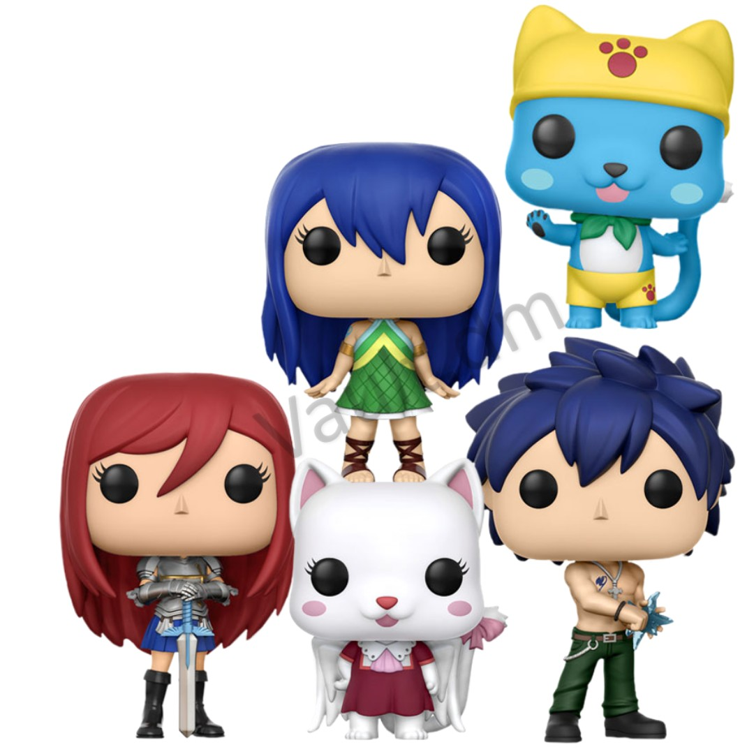 Po Closed Fairy Tail Wizard Guild Set Of 5 Funko Pop Free Games Destiny Sweeper Bot Sdcc Delivery Toys Bricks Figurines On Carousell