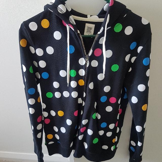 Polka Dot Hooded Jacket