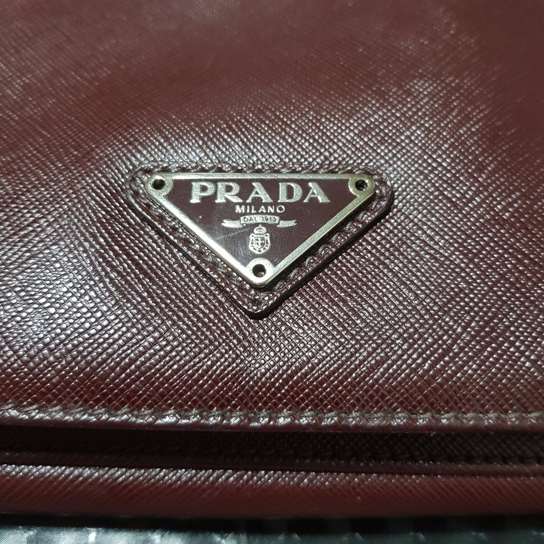 PRADA CARTELLA Saffiano Calf Leather bag