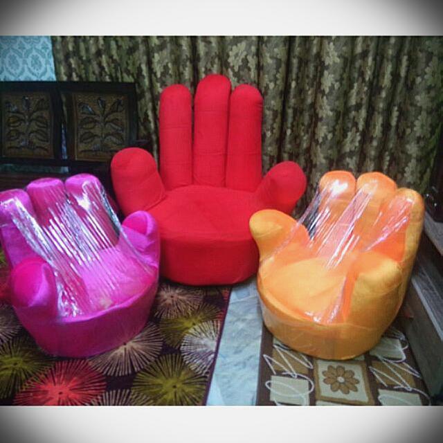 🔥Promo Sofa Jari / Sofa Finger, Home & Furniture, Home Décor on Carousell