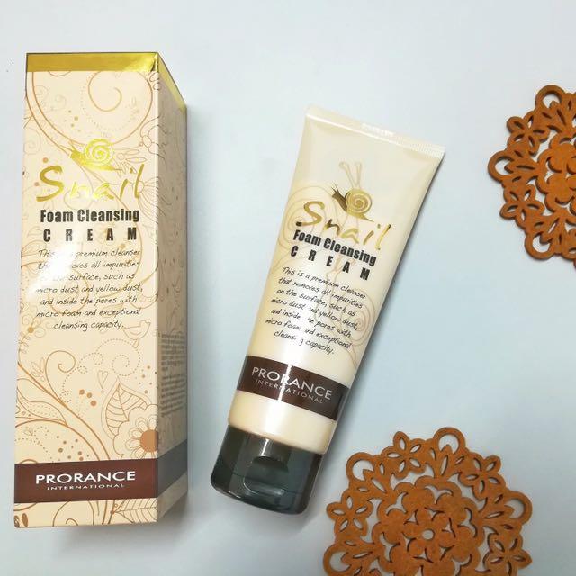 Prorance Snail Foam Cleansing Cream