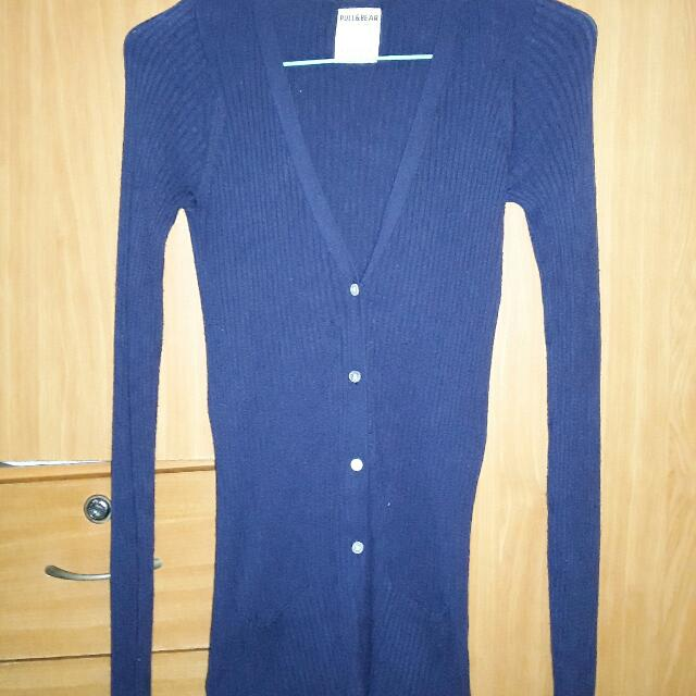 Pull & Bear Cardigan Navy Blue