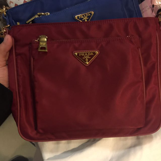 Red And Blue Prada Sling Bag